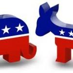 Republican Elephant and Democratic Donkey